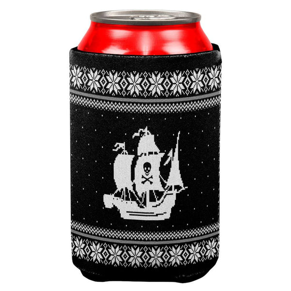Pirate Ship Ugly Christmas Sweater All Over Can Cooler