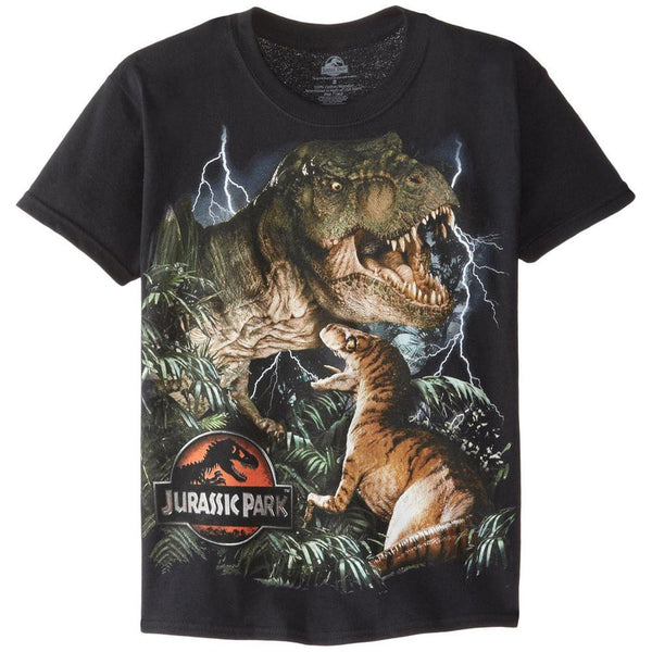 Jurassic Park - Lightning Collage Youth T-Shirt