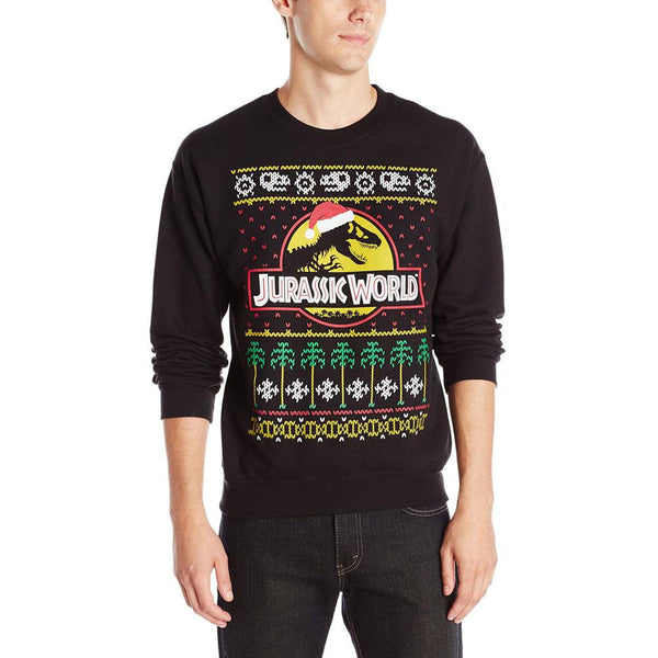Jurassic World - Christmas Logo Ugly Christmas Sweater Adult Sweatshirt