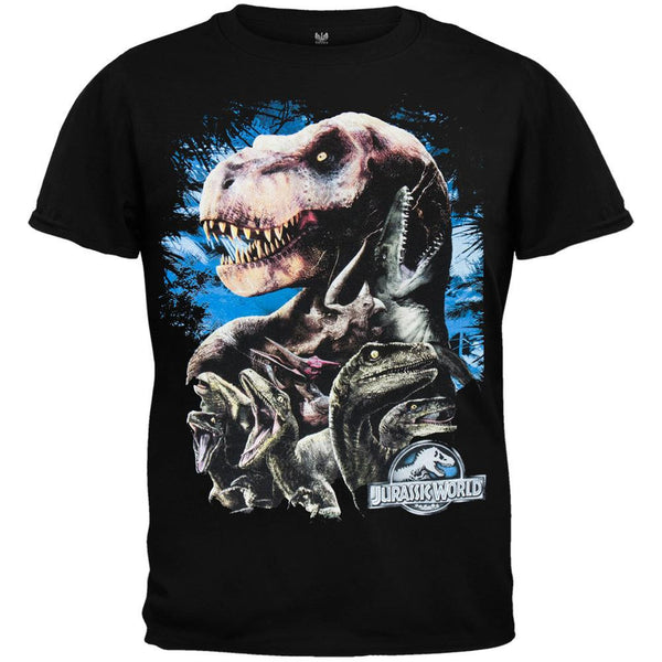 Jurassic World - Poised to Attack Collage Juvy T-Shirt