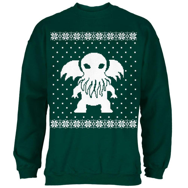 Big Cthulhu Ugly XMAS Sweater Forest Adult Sweatshirt