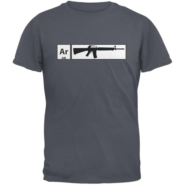 AR15 Element Periodic Table Charcoal Grey Adult T-Shirt