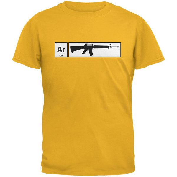 AR15 Element Periodic Table Gold Adult T-Shirt