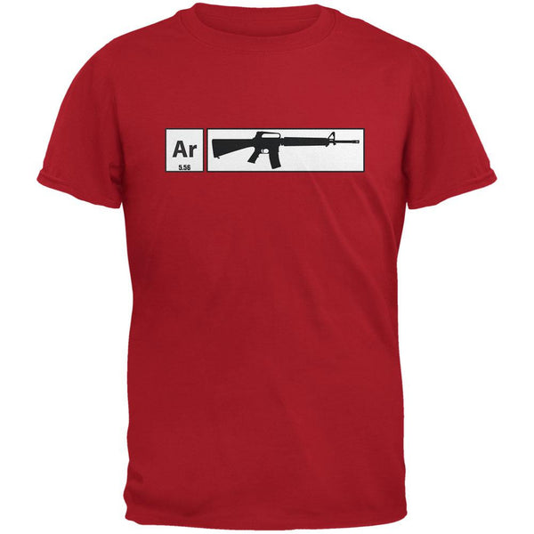 AR15 Element Periodic Table Red Adult T-Shirt