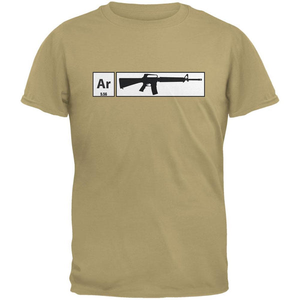 AR15 Element Periodic Table Tan Adult T-Shirt