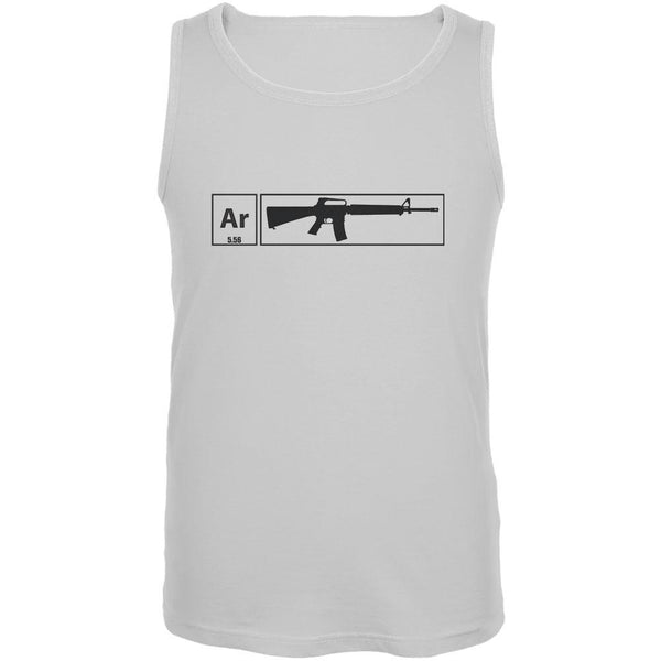 AR15 Element Periodic Table White Adult Tank Top
