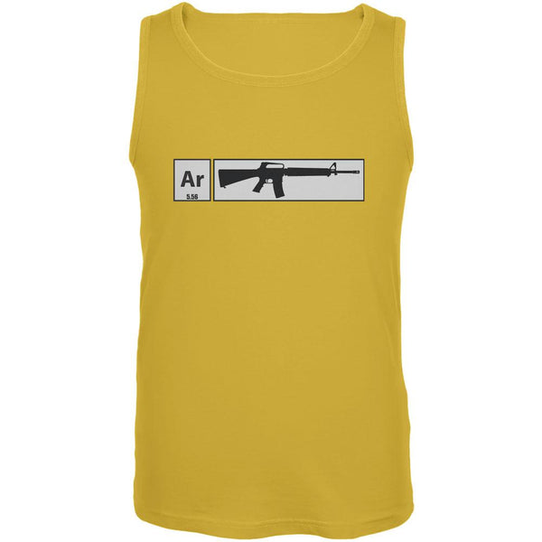 AR15 Element Periodic Table Yellow Adult Tank Top