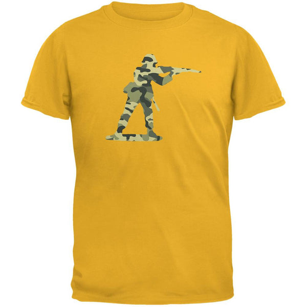 Camo Toy Soldier Gold Adult T-Shirt