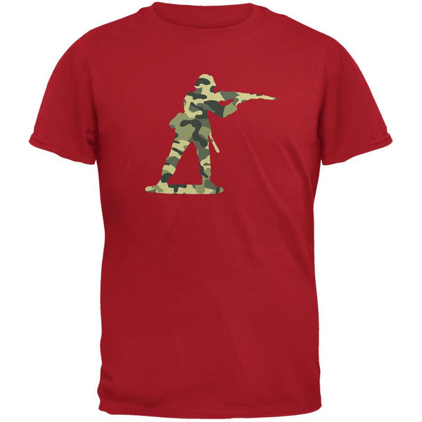 Camo Toy Soldier Red Adult T-Shirt