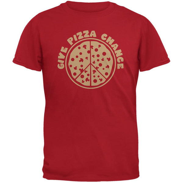 Give Pizza Chance Red Adult T-Shirt