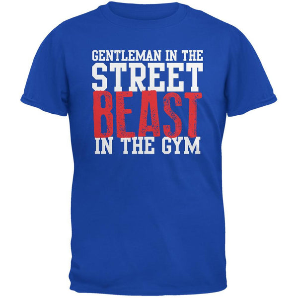 Gentleman In The Street Beast In The Gym Royal Adult T-Shirt