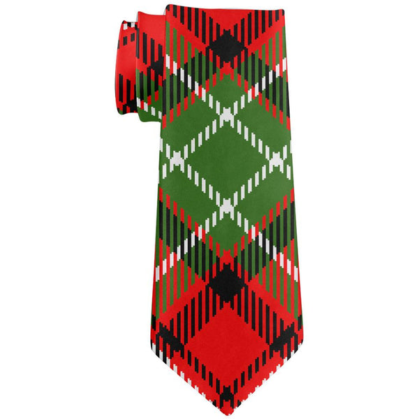 Christmas Plaid All Over Neck Tie