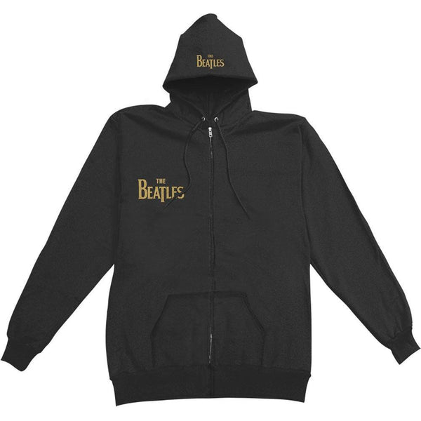 The Beatles - Gold Sgt Peppers Adult Zip Hoodie