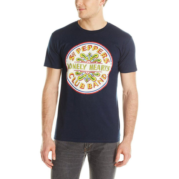 The Beatles - Lonely Hearts Seal Adult T-Shirt