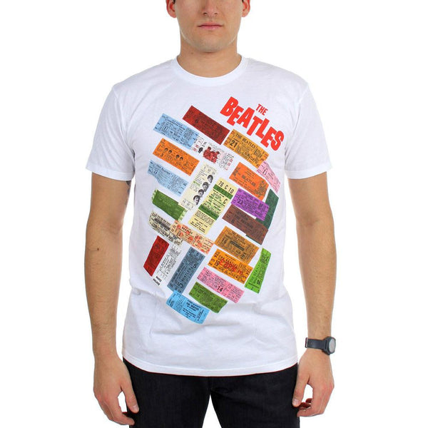 The Beatles - Tickets Stacked Adult T-Shirt