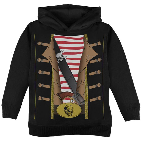 Halloween Pirate Costume Black Toddler Hoodie