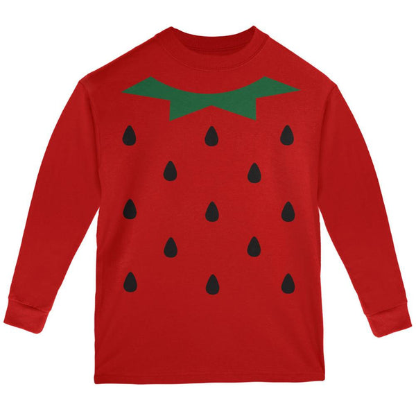 Halloween Strawberry Costume Red Youth Long Sleeve T-Shirt