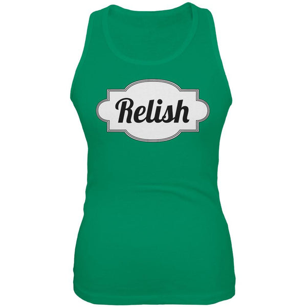 Halloween Relish Costume Kelly Green Juniors Soft Tank Top