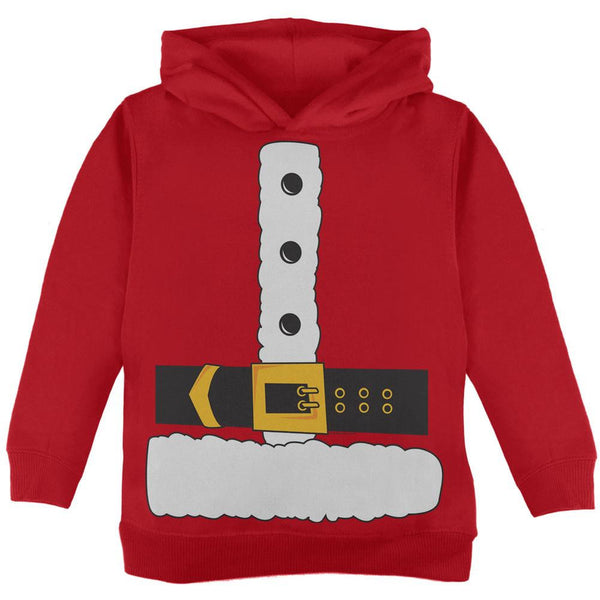 Santa Claus Costume Red Toddler Hoodie