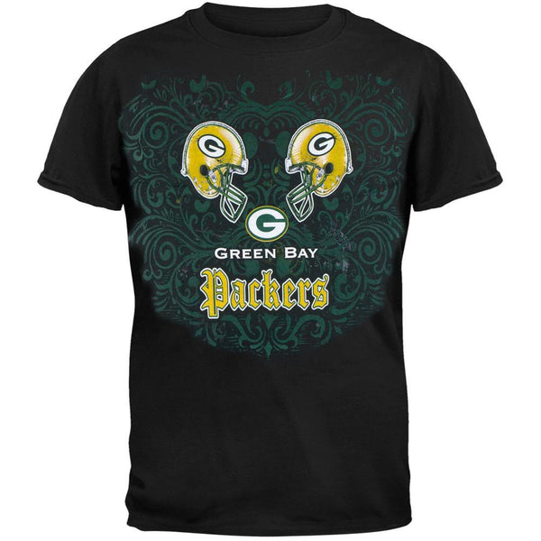 Green Bay Packers - Face Off Adult T-Shirt
