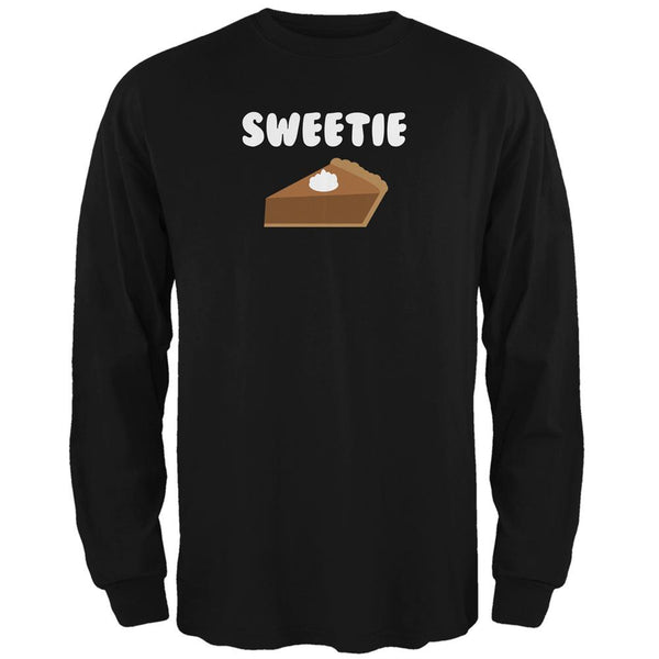 Thanksgiving Sweetie Pie Black Adult Long Sleeve T-Shirt