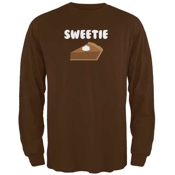 Thanksgiving Sweetie Pie Brown Adult Long Sleeve T-Shirt