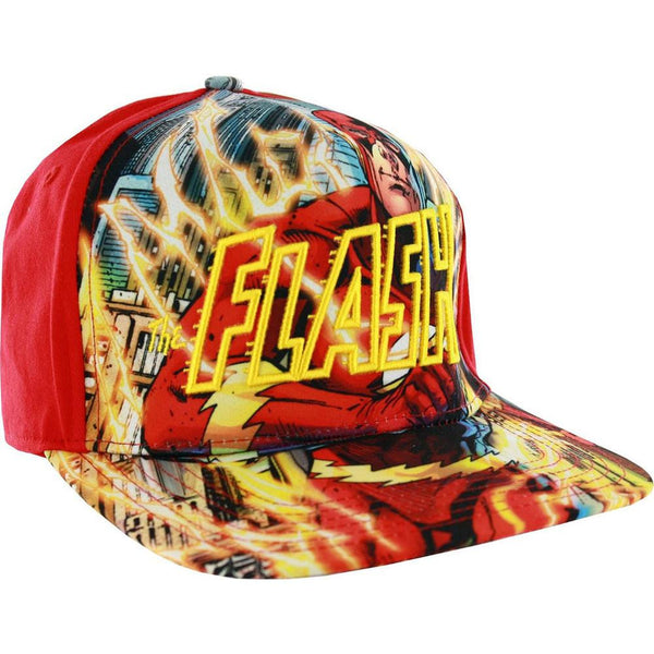 Flash - Running Lightning Sublimated Adjustable Baseball Cap