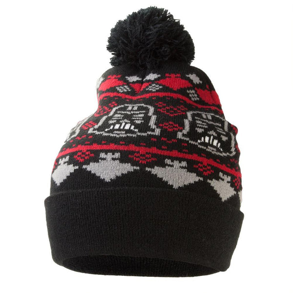 Star Wars - Darth Repeat Holiday Pattern Pom Pom Knit Hat