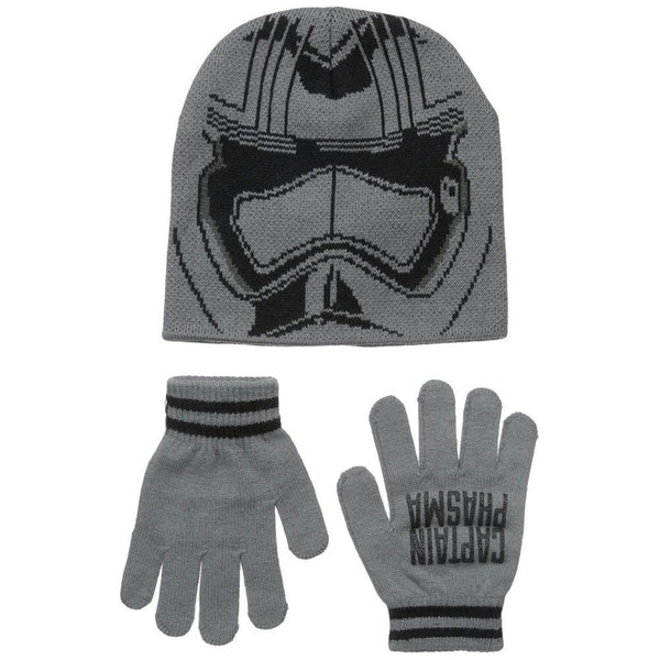 Star Wars - Episode VII Captain Phasma Helmet Youth Beanie and Gloves Set