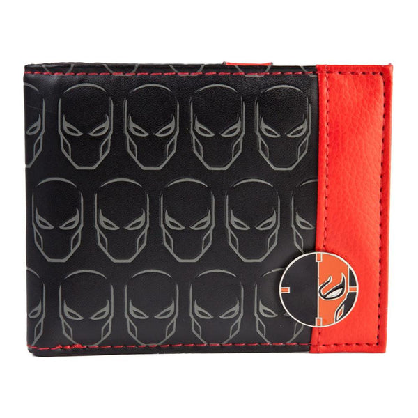 Deathstroke - Multi Logo Debossed Bi-Fold Wallet