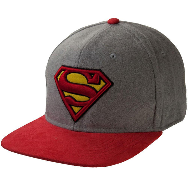 Superman - Logo Felted Wool Adjustable Baseball Cap