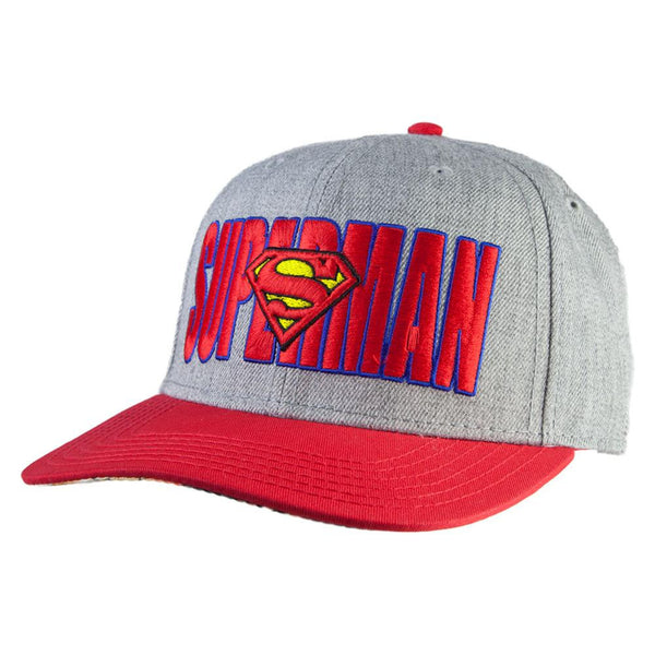 Superman - Logo in Words Wool Snapback Cap