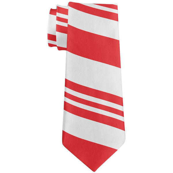 Christmas Candy Cane All Over Neck Tie
