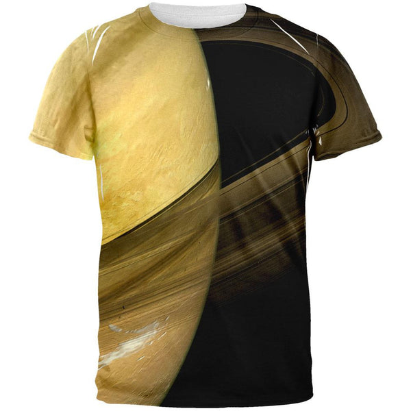 Solar System Planet Saturn All Over Adult T-Shirt