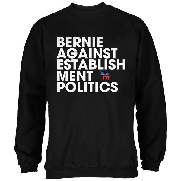 Election 2016 - Bernie Against Politics Black Adult Sweatshirt
