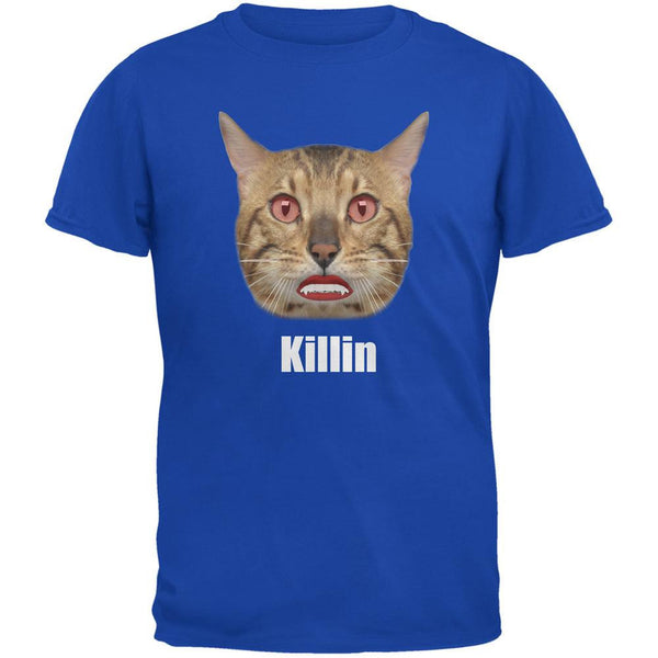 Halloween Killin Cat Royal Adult T-Shirt