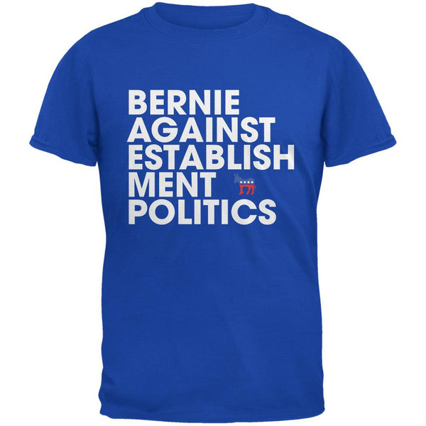 Election 2016 - Bernie Against Politics Royal Adult T-Shirt