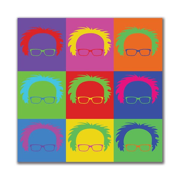 Election Bernie Sanders Minimalist Pop Art 4x4in. Square Decal Sticker