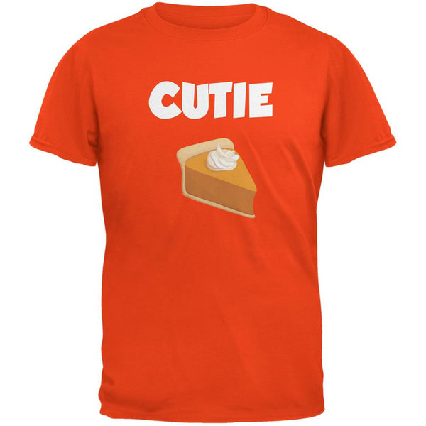Thanksgiving Cutie Pie Orange Adult T-Shirt