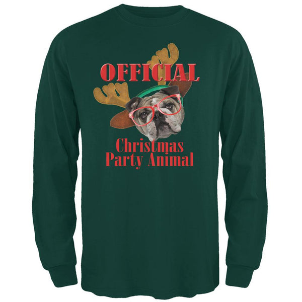 Christmas Party Animal Forest Adult Long Sleeve T-Shirt