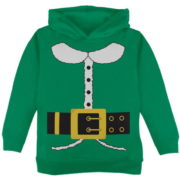 Holiday Elf Costume Green Toddler Hoodie