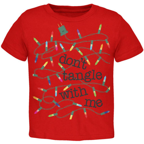 Christmas Dont Tangle With Me Red Toddler T-Shirt