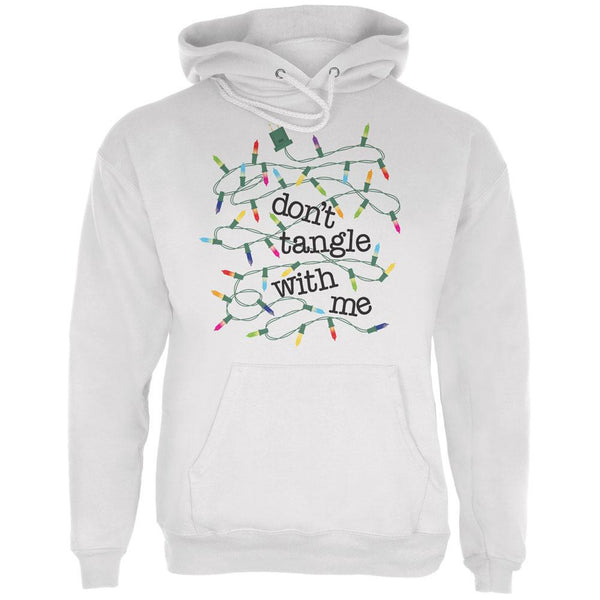 Christmas Dont Tangle With Me White Adult Hoodie