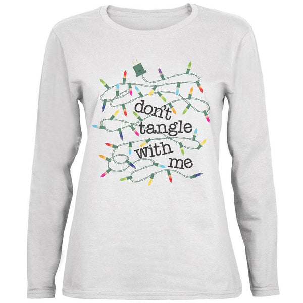Christmas Dont Tangle With Me White Womens Long Sleeve T-Shirt