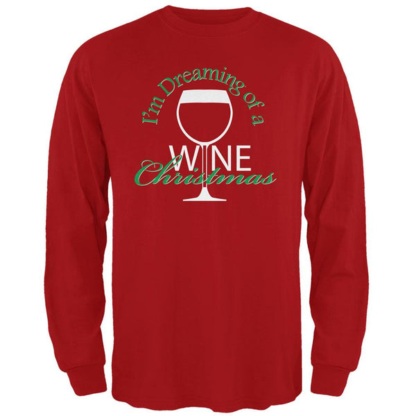 Wine Christmas Red Adult Long Sleeve T-Shirt