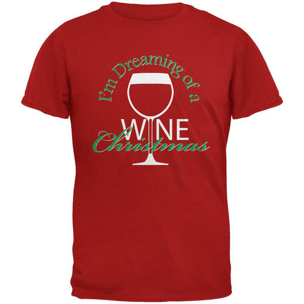 Wine Christmas Red Adult T-Shirt