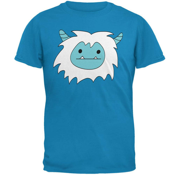 Christmas Abominable Yeti Sapphire Blue Adult T-Shirt