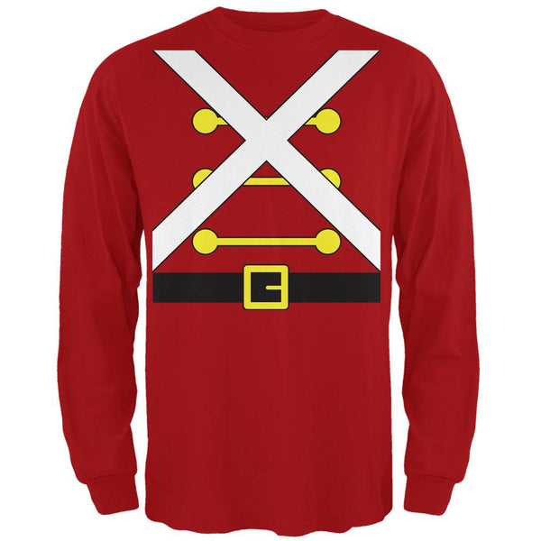Christmas Toy Soldier Costume Red Adult Long Sleeve T-Shirt