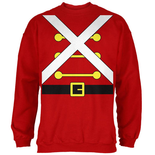 Christmas Toy Soldier Costume Red Adult Sweatshirt