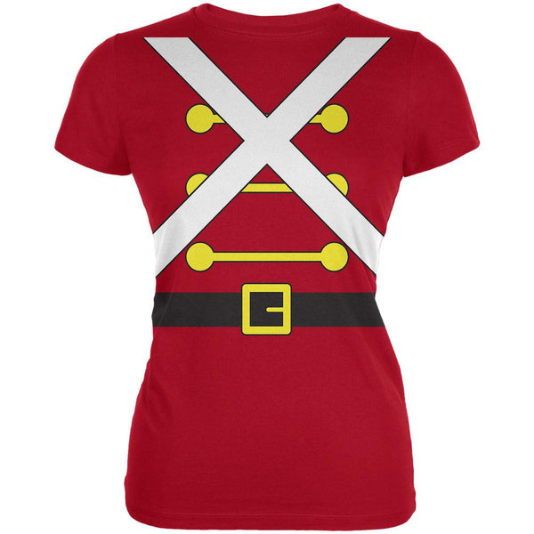 Christmas Toy Soldier Costume Red Juniors Soft T-Shirt